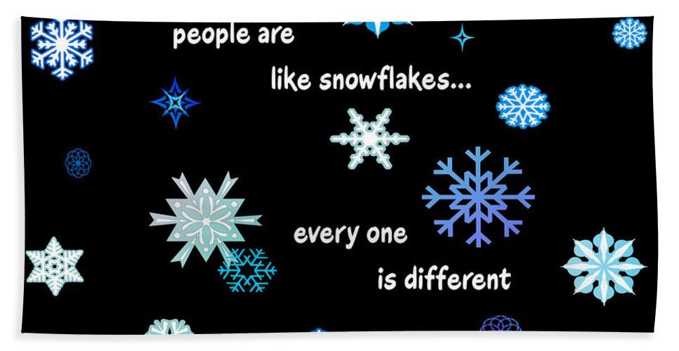 Snowflakes Hand Towel featuring the digital art Snowflakes 4 by Methune Hively