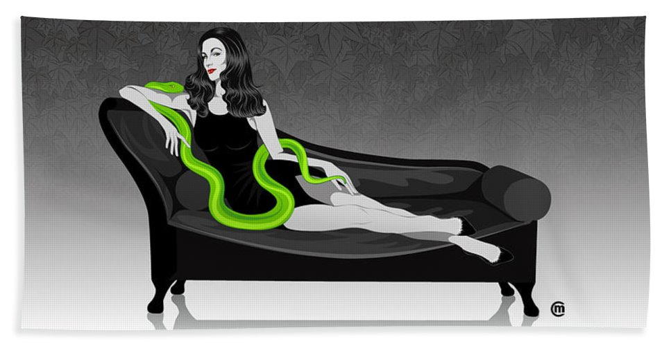 Deadly Sins Hand Towel featuring the digital art Envy by Carolina Matthes