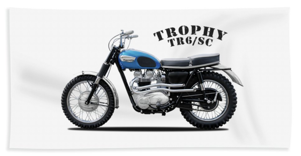 Triumph Trophy Hand Towel featuring the photograph Triumph Trophy Tr6 by Mark Rogan
