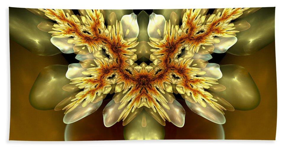 Fractal Bath Sheet featuring the digital art As Fresh As Spring by Amorina Ashton