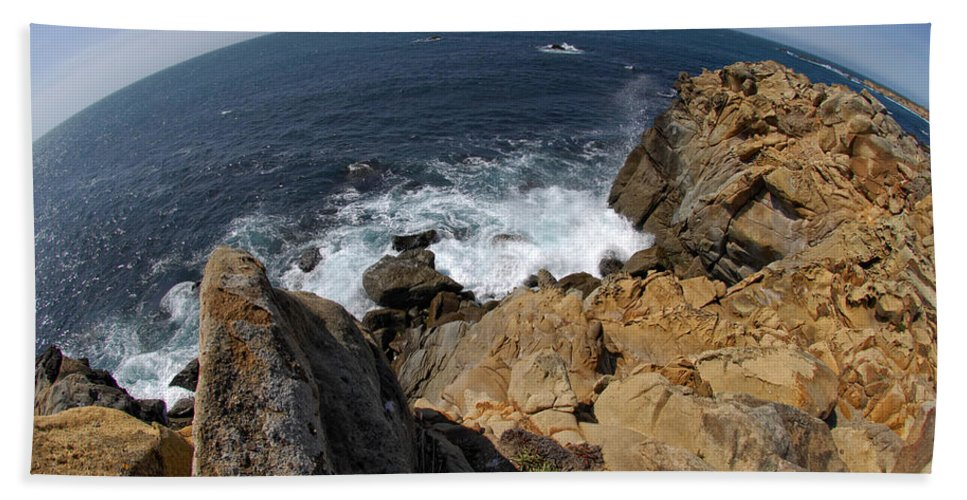 Ocean Hand Towel featuring the photograph As The World Turns by Donna Blackhall