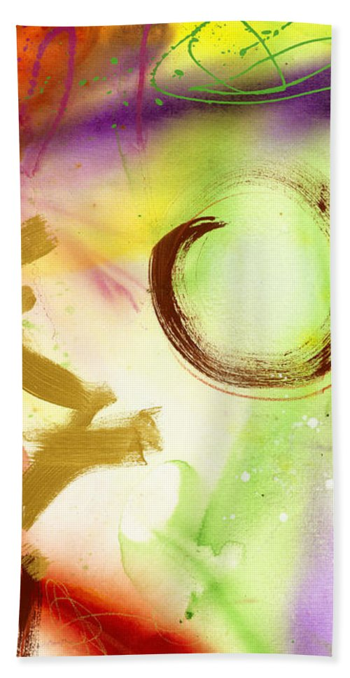 Circular Hand Towel featuring the painting Asago by Pamela Johnson Design