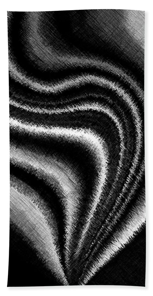 Black & White Hand Towel featuring the digital art Ascending by Will Borden