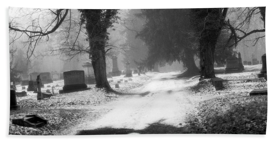 Photograph Hand Towel featuring the photograph Ashland Cemetery by Jean Macaluso