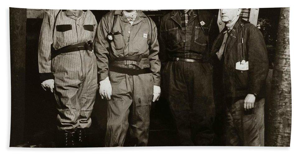 Ashley Hand Towel featuring the photograph Ashley Pa Glen Alden Coal Co Huber Coal Breaker 1962 by Arthur Miller