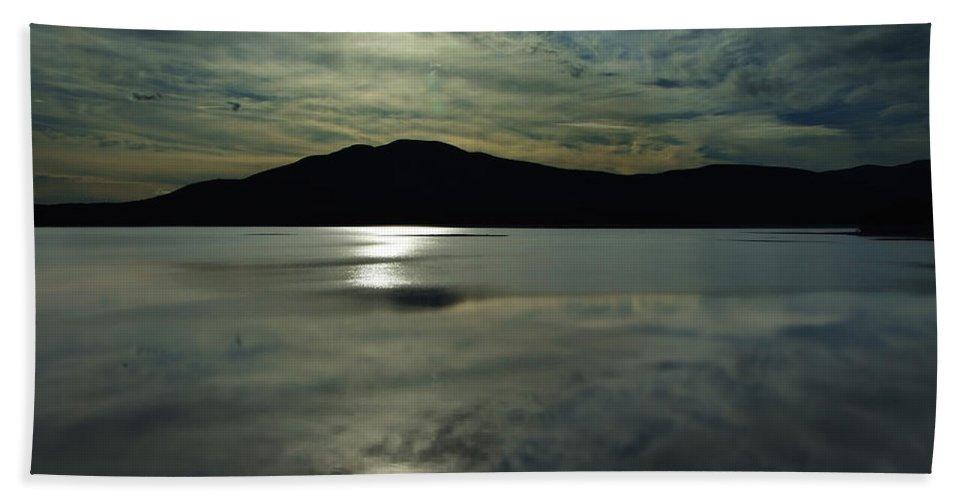 Artoffoxvox Bath Sheet featuring the photograph Ashokan Sunset Photograph by Kristen Fox