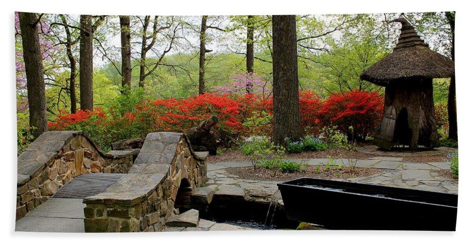 Flowers Hand Towel featuring the photograph Asian Garden by Deborah Crew-Johnson