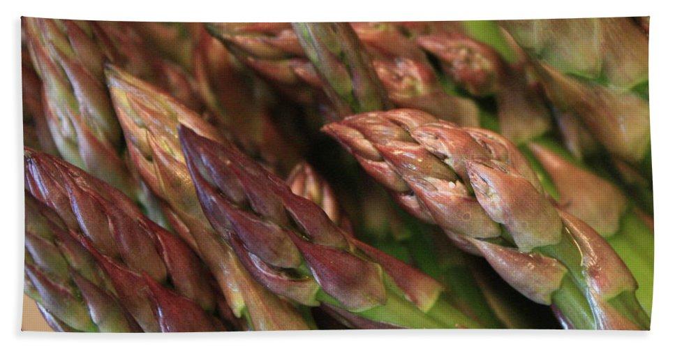 Asparagus Bath Towel featuring the photograph Asparagus Tips by Carol Groenen