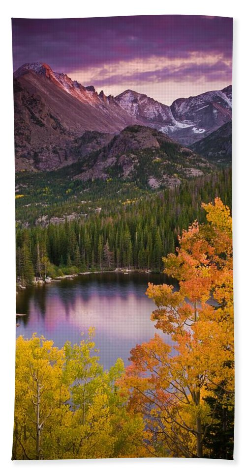 All Rights Reserved Bath Towel featuring the photograph Aspen Sunset Over Bear Lake by Mike Berenson