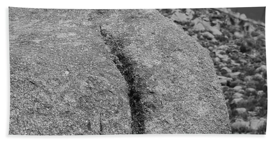 Rock Hand Towel featuring the photograph Ass Crack New Mexico In Black And White by Rob Hans