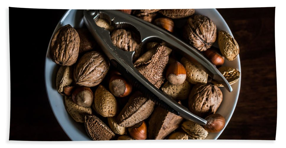 Food Hand Towel featuring the photograph Assorted Nuts by Kaleidoscopik Photography