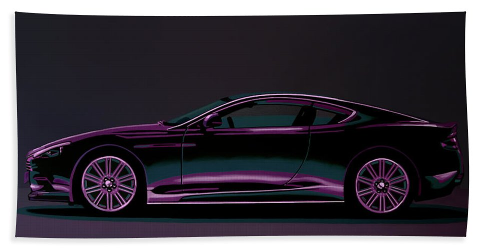 Aston Martin DBS V12 2007 Painting Bath Towel for Sale by ...