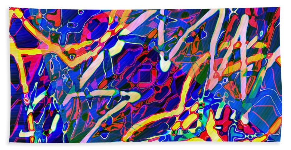Bath Sheet featuring the digital art Astra by Blind Ape Art