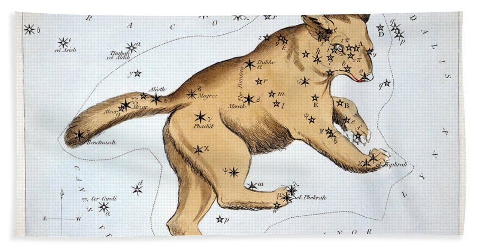 1825 Hand Towel featuring the photograph Astronomy: Ursa Major by Granger