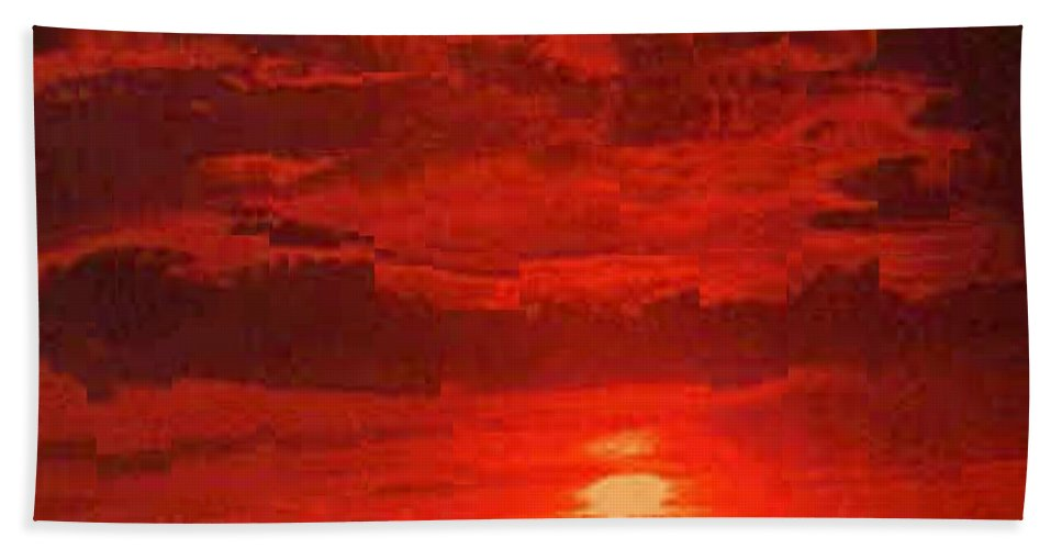 Sunset Hand Towel featuring the photograph At Days End by Tim Allen