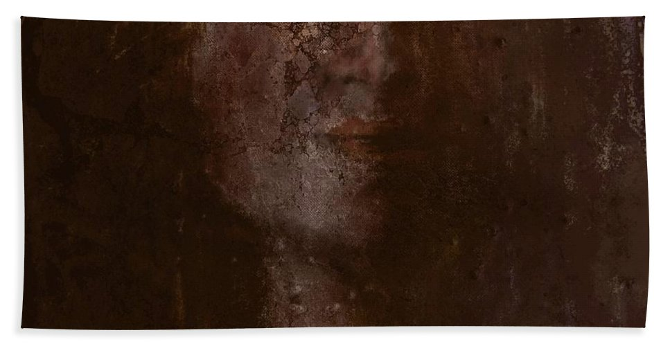 Face Hand Towel featuring the digital art At Peace II by Jim Vance