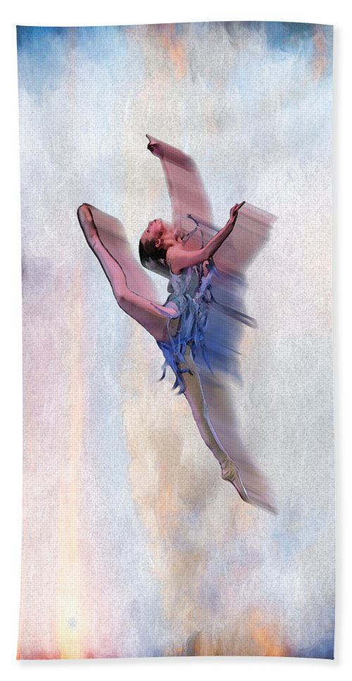 Ballet Hand Towel featuring the digital art At The Ballet by Brainwave Pictures