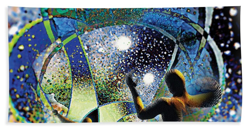 Symbolic Hand Towel featuring the digital art At The Gate by Tony Macelli