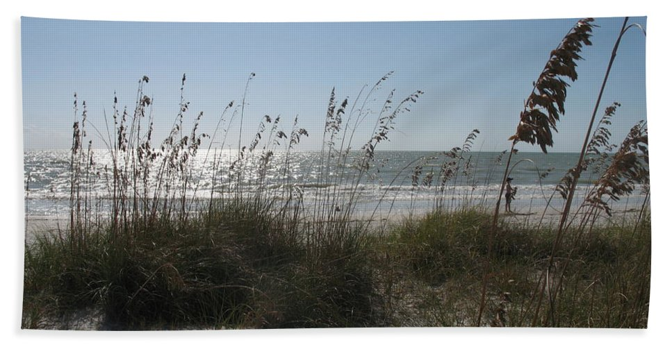Sea Hand Towel featuring the photograph At The Seaside by Christiane Schulze Art And Photography