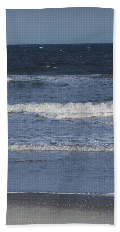 Atlantic Hand Towel featuring the photograph Atlantic Ocean Gradient by Teresa Mucha