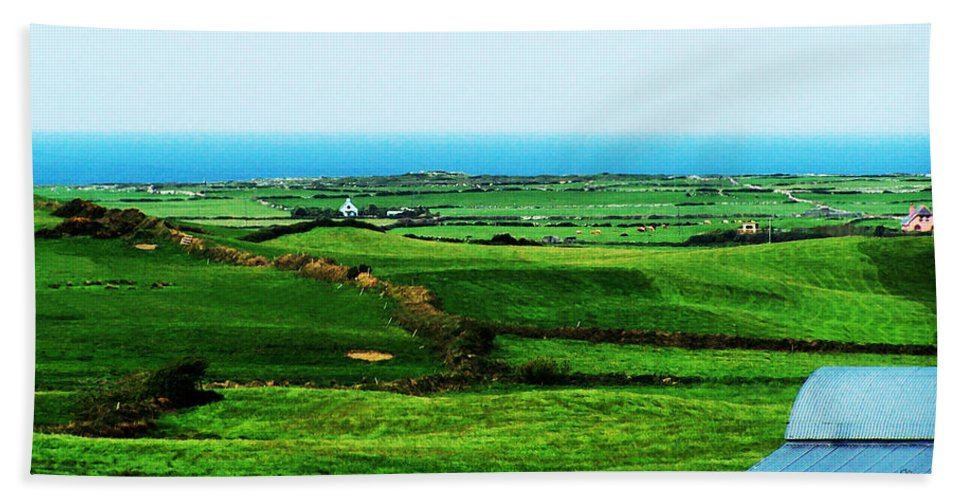 Ireland Bath Sheet featuring the photograph Atlantic View Doolin Ireland by Teresa Mucha