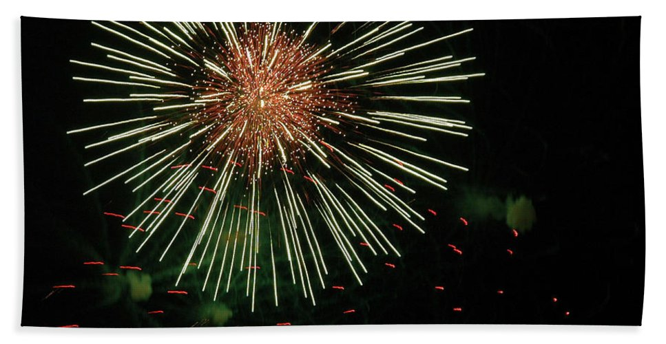 Fireworks Bath Sheet featuring the photograph Atom Burst by Norman Andrus