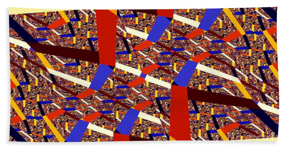 Clay Bath Towel featuring the digital art Atomic Link by Clayton Bruster