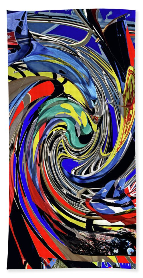 Abstract Hand Towel featuring the photograph Atrium by Ian MacDonald