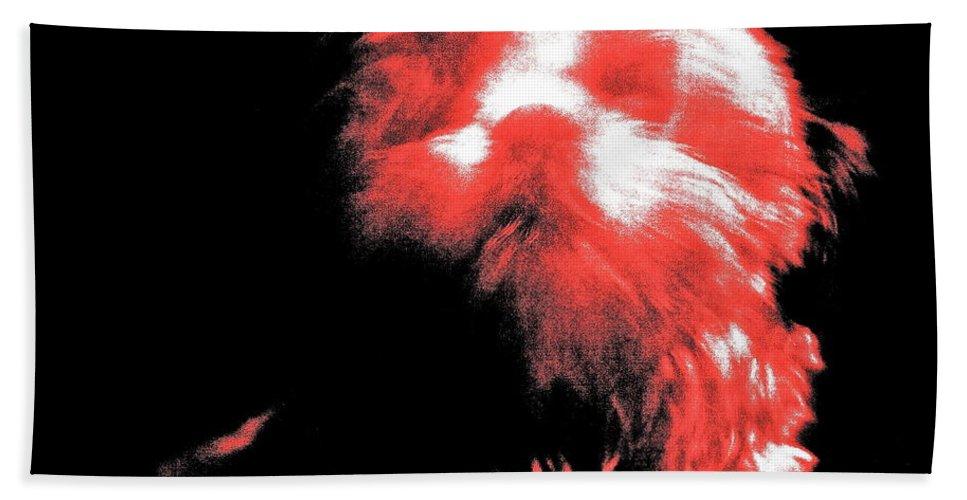 Abstract Bath Sheet featuring the photograph Atsuko by Xn Tyler