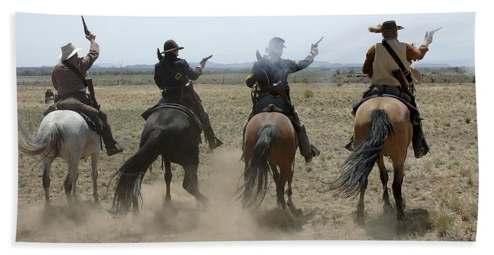 Old West Bath Sheet featuring the photograph Attack by Jerry McElroy