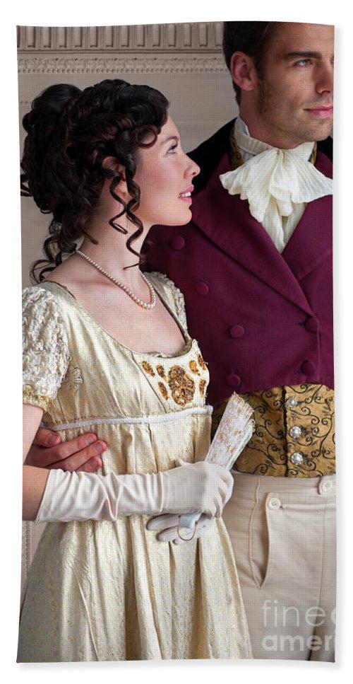 Regency Bath Sheet featuring the photograph Attractive Regency Couple by Lee Avison