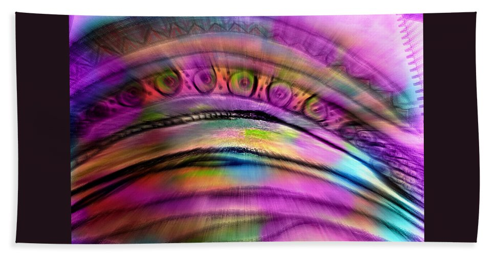 Metaphysical Art Bath Sheet featuring the painting Aura by Beth Aragon