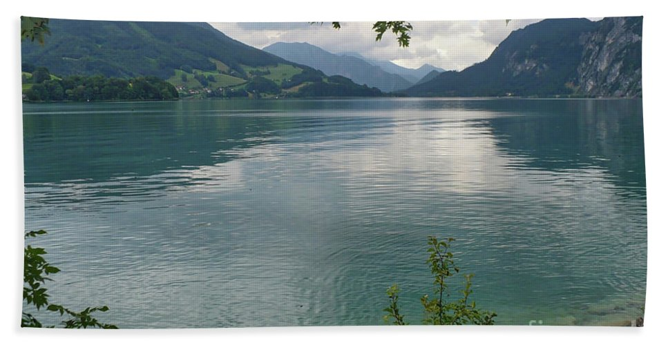 Austria Hand Towel featuring the photograph Austrian Lake by Carol Groenen