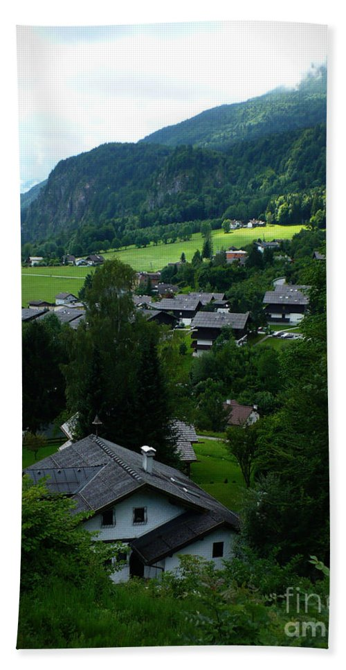 Austria Hand Towel featuring the photograph Austrian Landscape by Carol Groenen