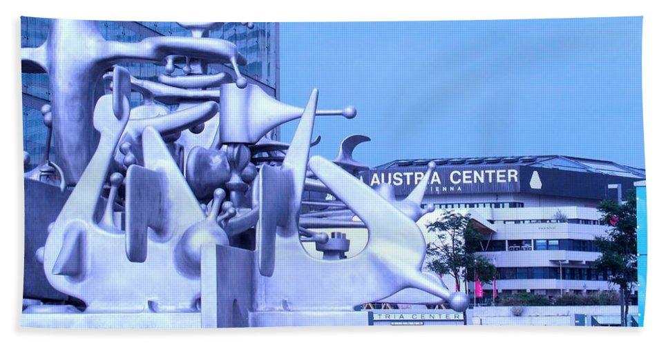 Sculpture Bath Sheet featuring the photograph Austrian Sculpture by Ian MacDonald