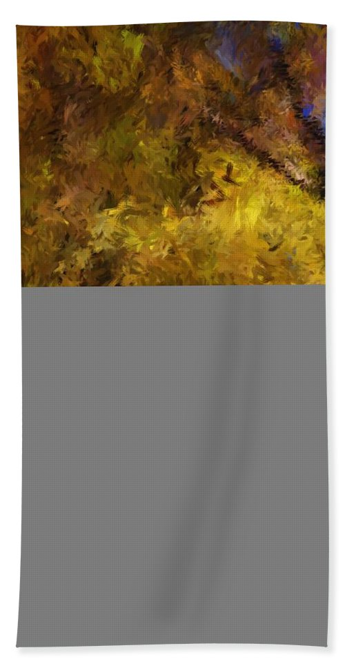 Abstract Digital Painting Bath Sheet featuring the digital art Autumn Abstract by David Lane