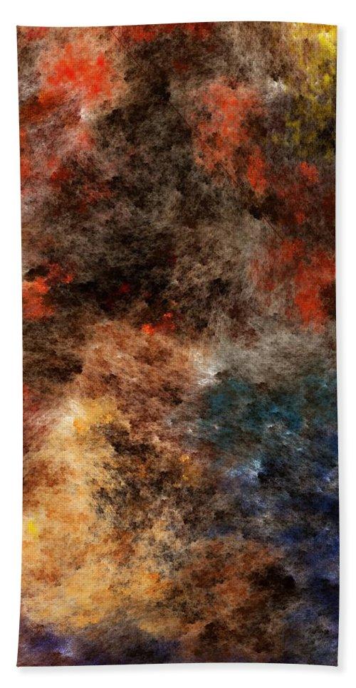 Abstract Digital Painting Bath Sheet featuring the digital art Autumn Beauty by David Lane