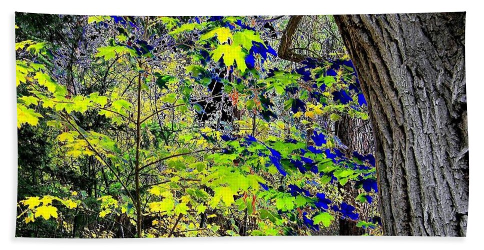Surreal Hand Towel featuring the photograph Autumn Blue by Will Borden