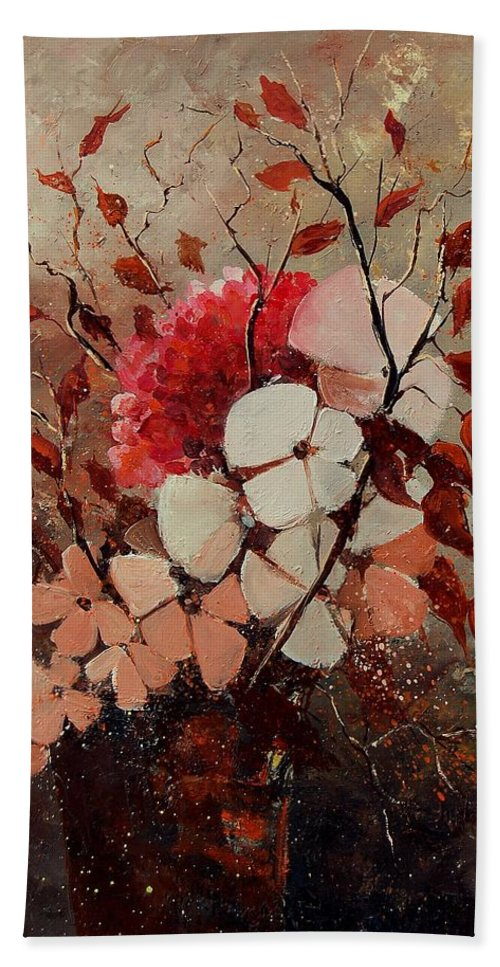 Flowers Bath Towel featuring the painting Autumn Bunch by Pol Ledent