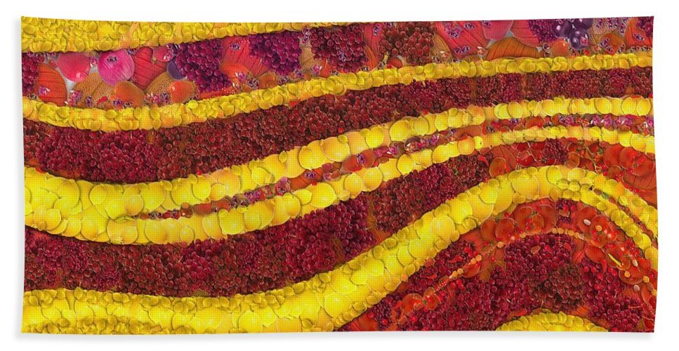 Autumn Bath Sheet featuring the painting Autumn by Dragica Micki Fortuna