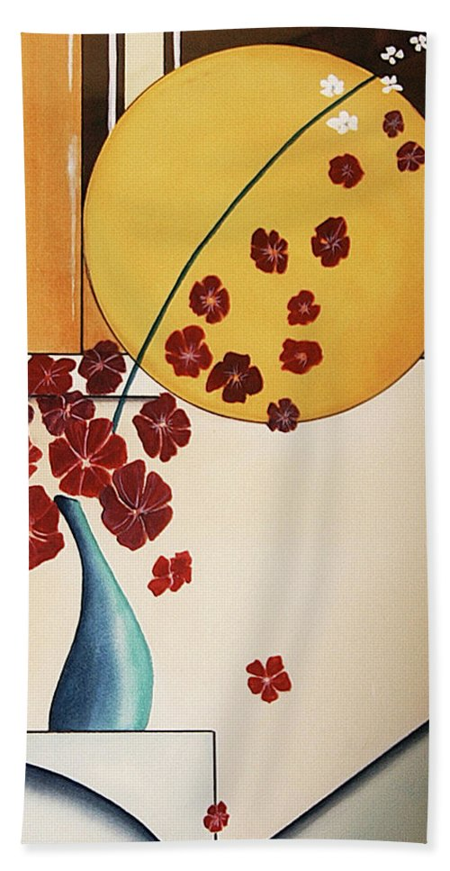 Watercolor Bath Sheet featuring the painting Autumn Fall by Francisco Ventura Jr