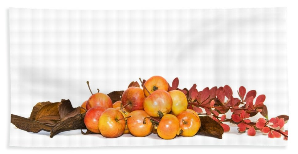 Autumn Hand Towel featuring the photograph Autumn Friuts And Leaves by Svetlana Sewell