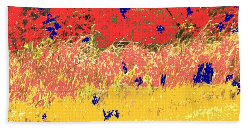 Autumn Bath Sheet featuring the photograph Autumn Grasses by Ian MacDonald