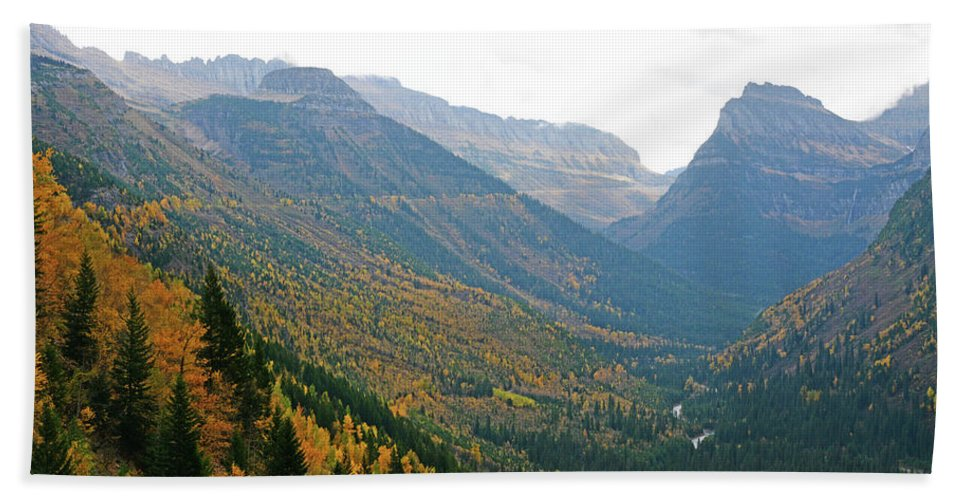 Larch Hand Towel featuring the photograph Autumn In Glacier by Whispering Peaks Photography