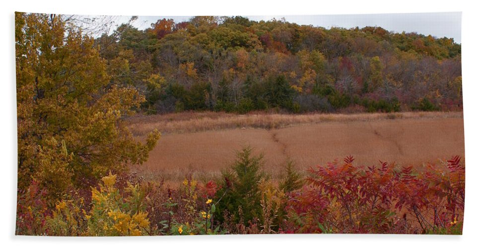 Missouri Autumn Hand Towel featuring the photograph Autumn In Missouri by Joanne Smoley