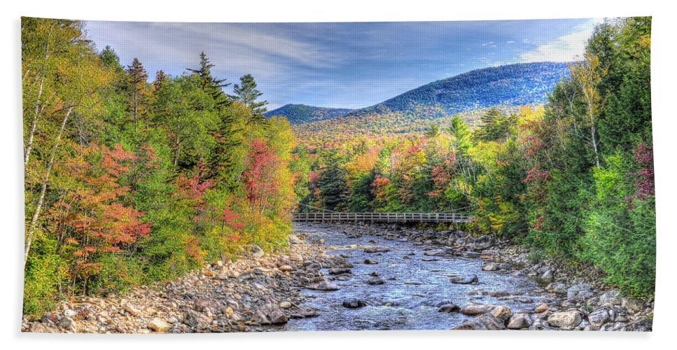 Kankamagus Highway Hand Towel featuring the photograph Autumn In New Hampshire by Don Mercer