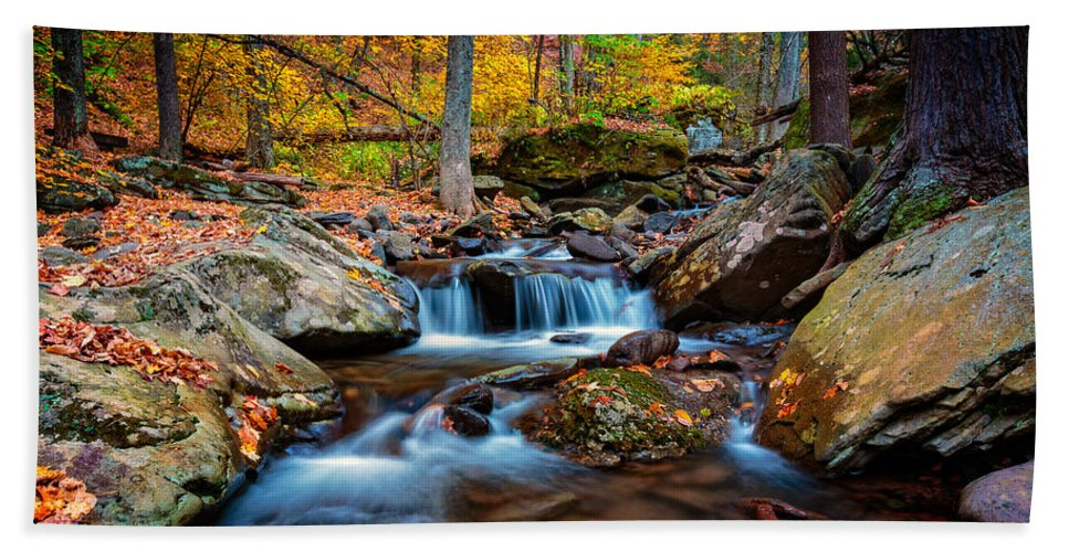Kaaterskill Falls Bath Sheet featuring the photograph Autumn In New York by Rick Berk
