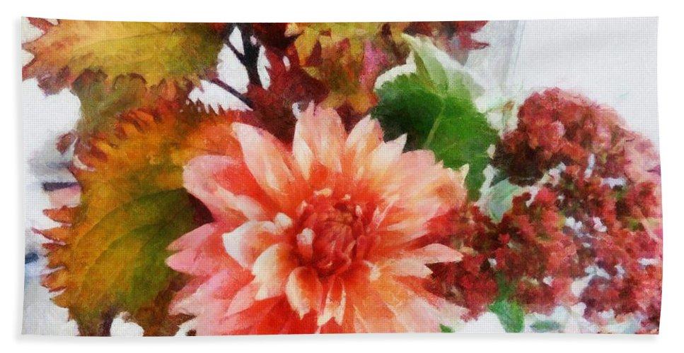 Autumn Bath Towel featuring the photograph Autumn Joy by Michelle Calkins