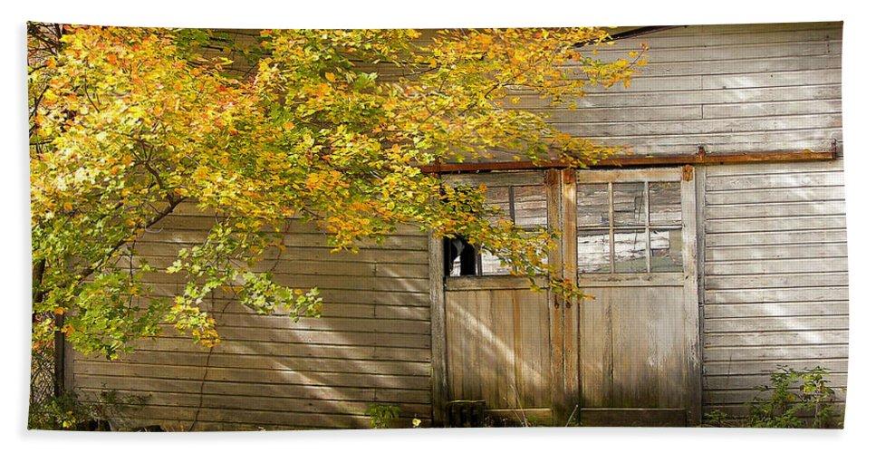 Autumn Bath Sheet featuring the photograph Golden Lights by JAMART Photography