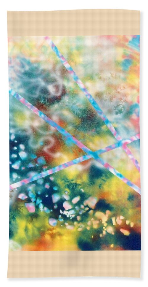 Abstract Bath Towel featuring the painting Autumn by Micah Guenther